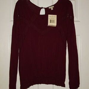 Burgundy blouse NWT